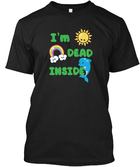 I'm Dead Inside Black T-Shirt Front