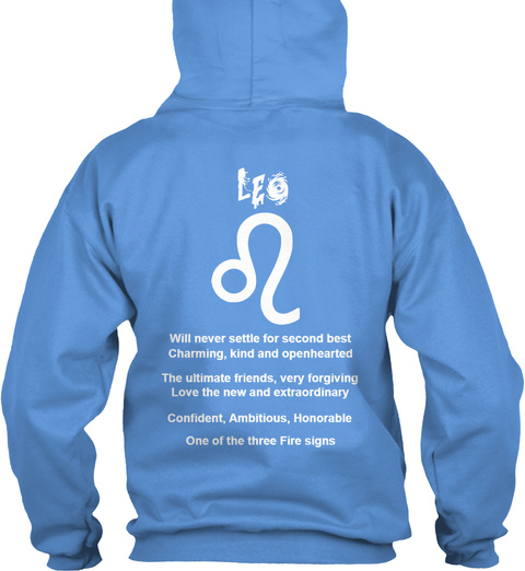 Leo Hoodie Carolina Blue T-Shirt Back