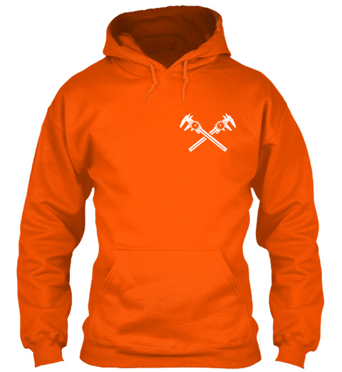 Machinist Becoming A Legend Safety Orange T-Shirt Front