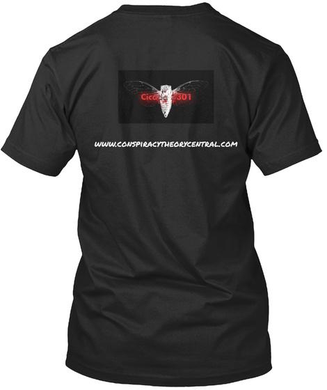 Www.Conspiracytheorycentral.Com Black T-Shirt Back