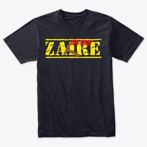 Zaire (Men) Vintage Navy T-Shirt Front