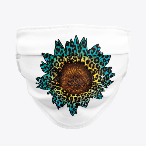 Awesome  Sunflower  Face Mask  Standard T-Shirt Front