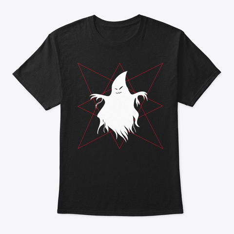 Paranormal Ghost Hex  Black T-Shirt Front