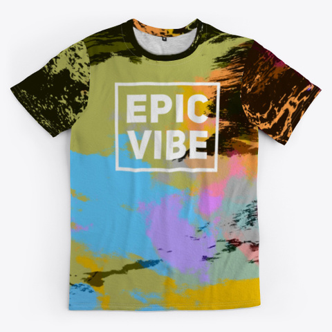 Epic Vibe   Batik Tie Dye Camouflage Art Standard T-Shirt Front