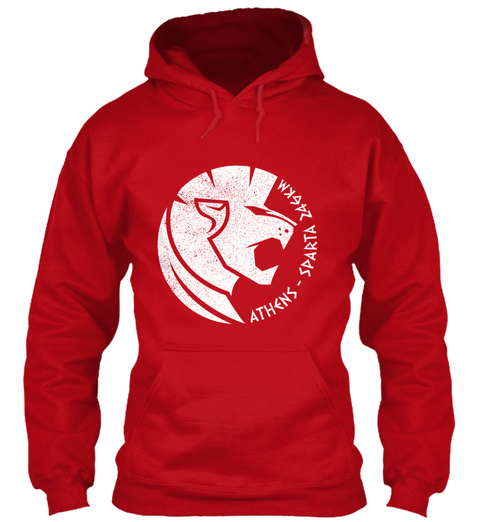 Athens   Sparta   Z46 Km Red Hot Chilli Sweatshirt Front
