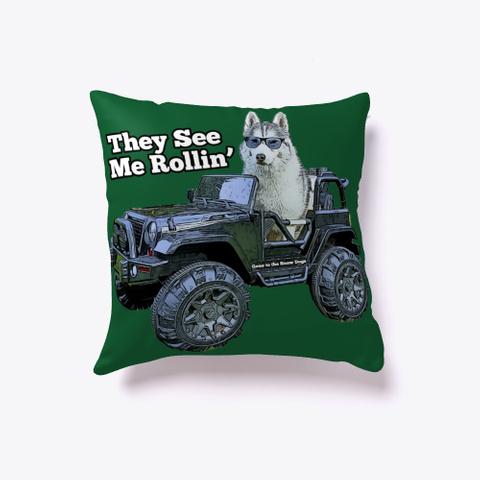 They See Me Rollin' Memphis The Husky Dark Green T-Shirt Front