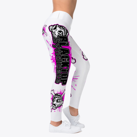 Pink Black And White Leggings Standard T-Shirt Right