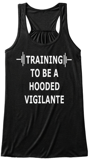 Training To Be Hooded Tank Top Black T-Shirt Front