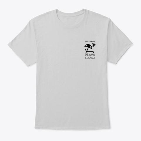 Summer Playa Blanca  Light Steel T-Shirt Front