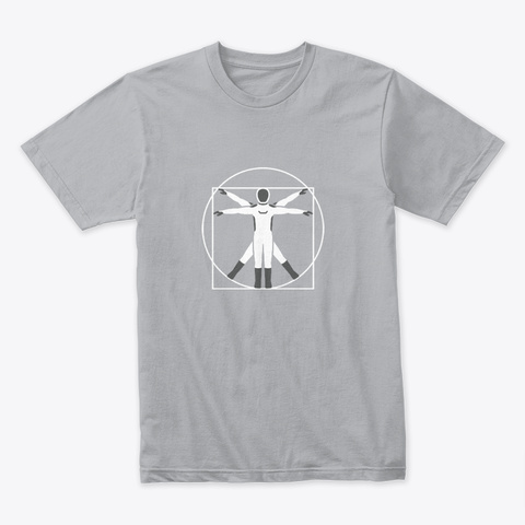 Vitruvian Starman 🚀 #Sfsf Heather Grey T-Shirt Front