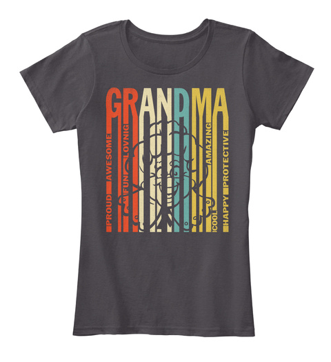 8b287353 Grandma Mimi Nana Gigi Abuela Shirt Heathered Charcoal Women's T-Shirt Front