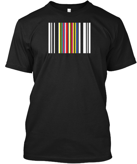 Rgb Barcode Black T-Shirt Front