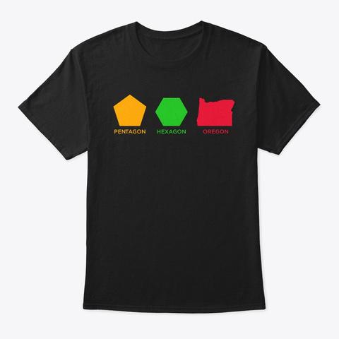 Funny Geometry Math Shirt Math Lover  Black T-Shirt Front