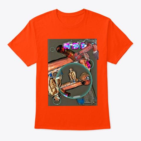 Olb Pp Pimp Erotic Kink Art  Orange T-Shirt Front