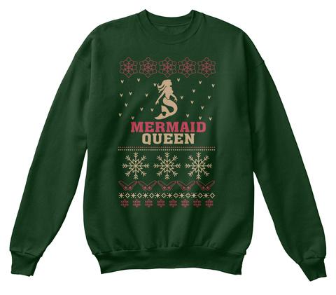 Mermaid Queen Deep Forest  T-Shirt Front