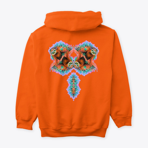 Orange Sloth Garden Hoodies And Ts Safety Orange T-Shirt Back