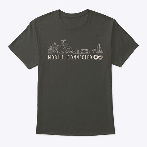 Mobile. Connected. Smoke Gray T-Shirt Front