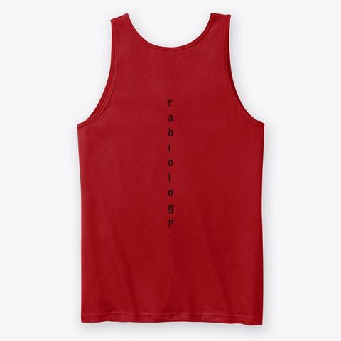 Radiology Patterns Red T-Shirt Back