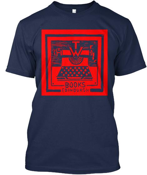 Typewronger Books Clothing! Navy T-Shirt Front