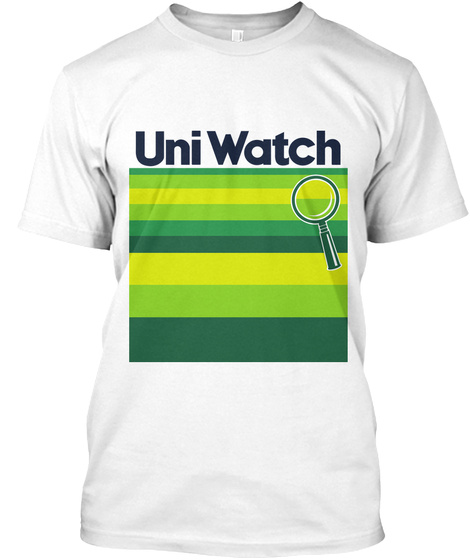 Uni Watch White T-Shirt Front
