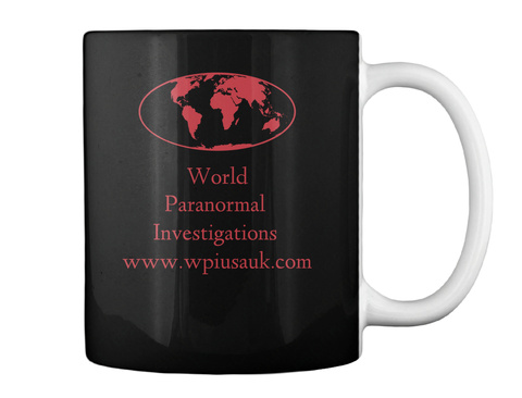 World      Paranormal           Investigations Www.Wpiusauk.Com Black T-Shirt Back