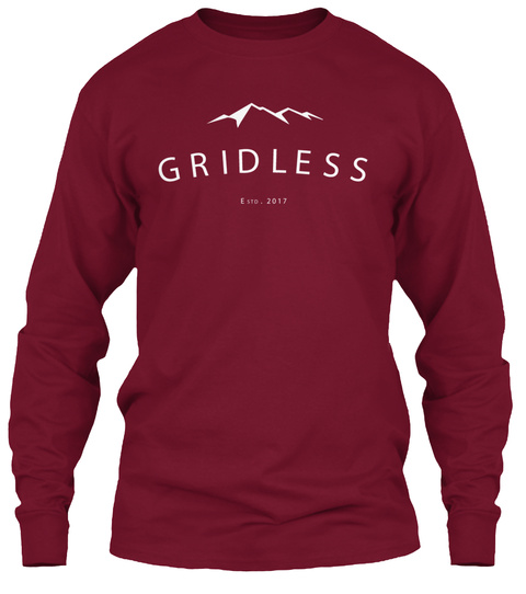 Gridless Life Long Sleeve Tee Cardinal Red Long Sleeve T-Shirt Front