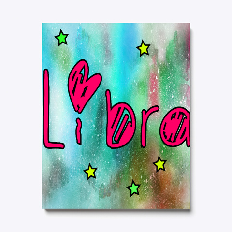 Magical Libra Zodiac Sign Canvas Print Black T-Shirt Front