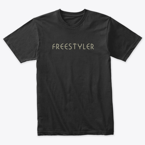 Freestyler Vintage Black T-Shirt Front