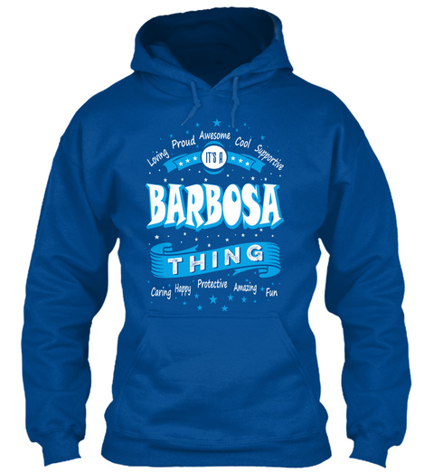 Name Barbosa Christmas Weather Royal T-Shirt Front