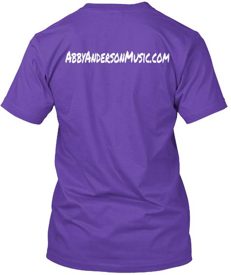 Abbyandersonmusic. Com Purple Rush T-Shirt Back