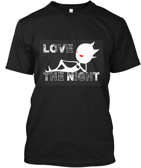 Love The Night Black T-Shirt Front
