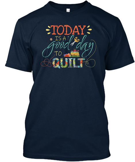 Quilting   Sewing New Navy T-Shirt Front
