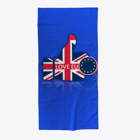 Love Eu Beach Towel Royal Blue T-Shirt Front