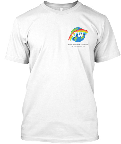 Lgbt, Comedy &Amp; Travel Blog Tee White T-Shirt Front