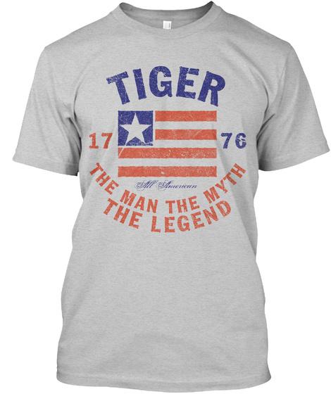 Tiger American Man Myth Legend Light Steel T-Shirt Front