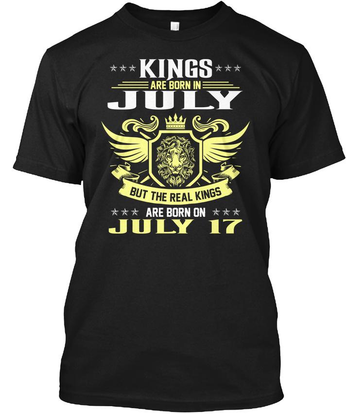 4fecf08ff Born On 17th Of July King Bday Gift Hanes Tagless Tee T-Shirt | eBay