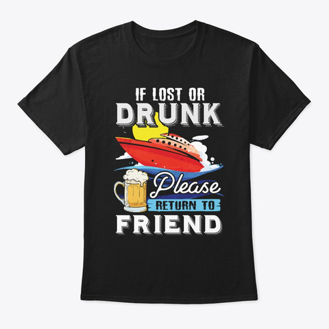 Funny Cruise Friend Apparel Black T-Shirt Front