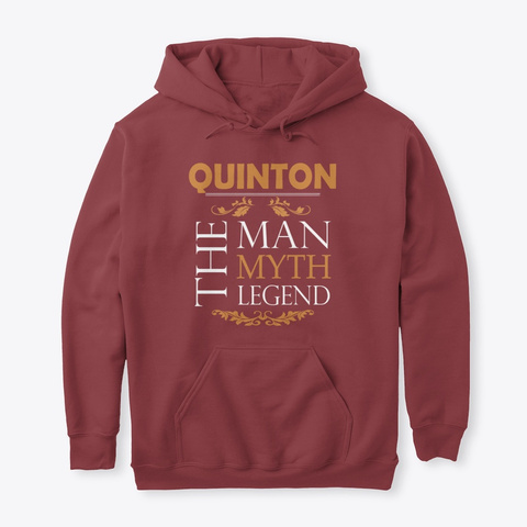 Quinton The Legend Man Maroon T-Shirt Front