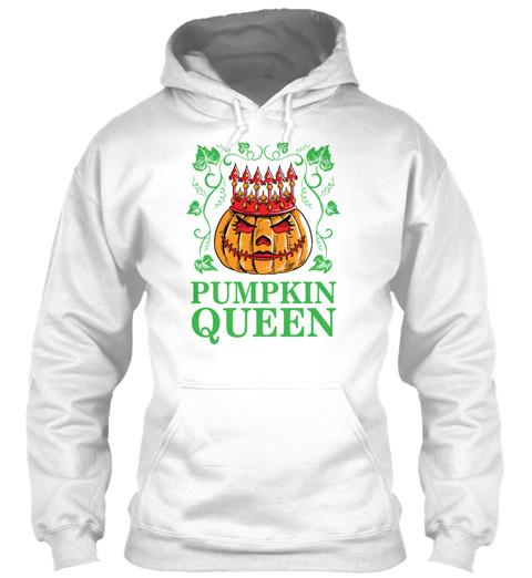 Pumpkin Queen Little Girl Princess Hallo White T-Shirt Front