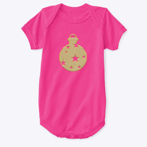 Shine Bright Goldie Ornament Collection  Hot Pink T-Shirt Front