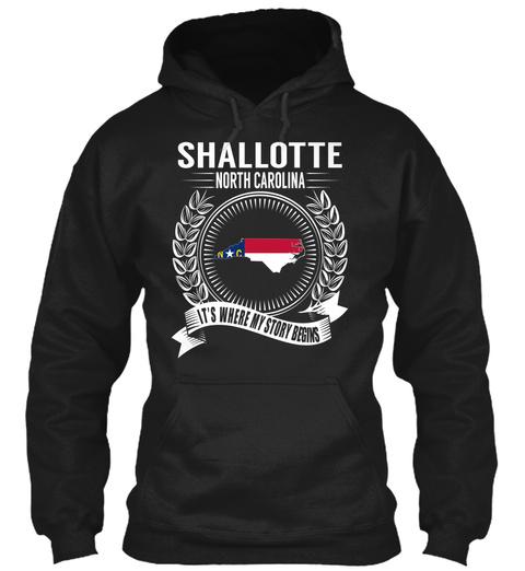 Shallotte North Carolina It's Where My Story Begins Black T-Shirt Front
