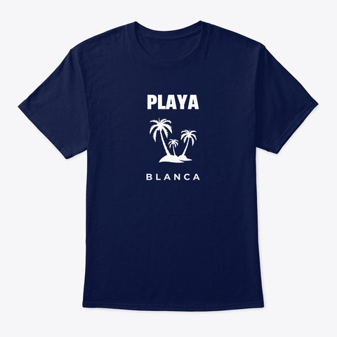 Playa Blanca Palm Tree Navy T-Shirt Front