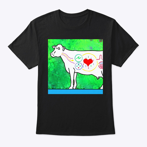 Op 1 Cow Black T-Shirt Front