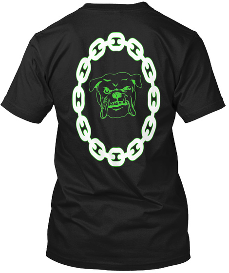 Muscle Dog T Black T-Shirt Back
