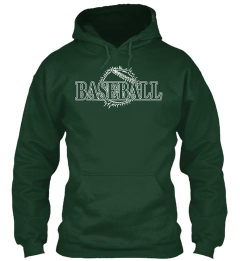 Baseball Forest Green T-Shirt Front