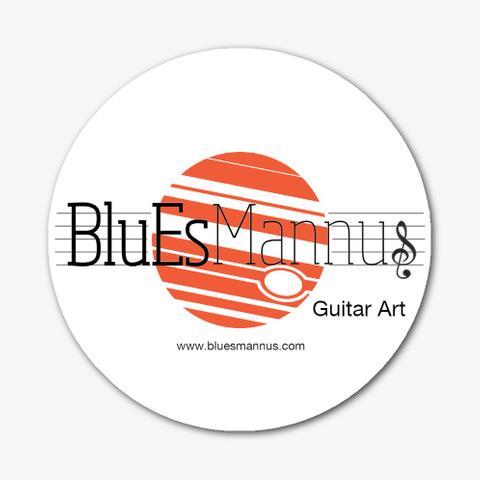 Blu Es Mannus Guitar Art Sticker Standard T-Shirt Front