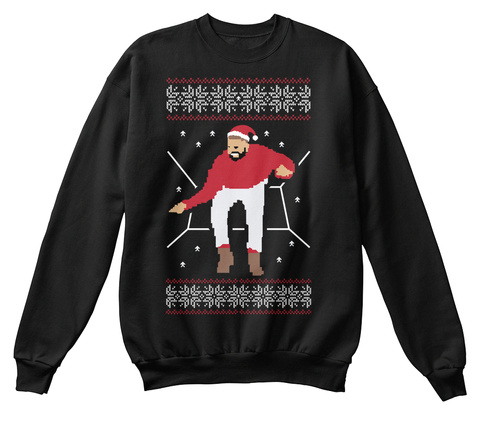 Hotline Bling Christmas Sweater Black Sweatshirt Front
