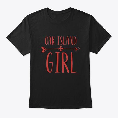 Oak Island Girl Treasure Womens Black T-Shirt Front