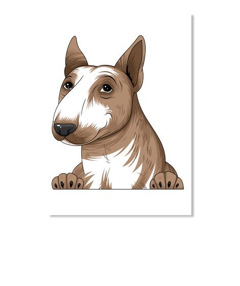 Bull Terrier Decal 03 White T-Shirt Front