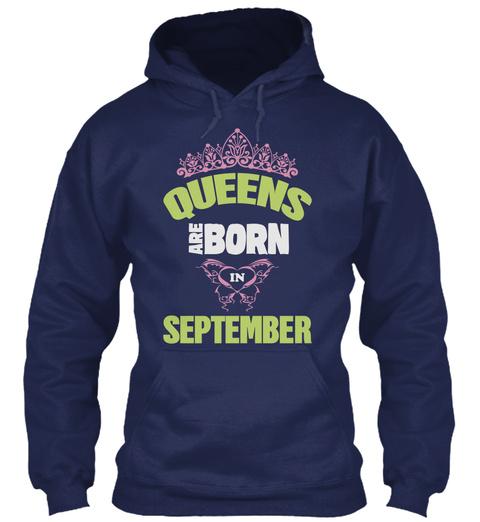 Queens Of September! Shirts!! Navy T-Shirt Front